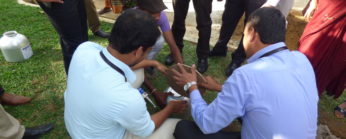 Navesta Pharmaceuticals Staff During Time Capsule Burial Ceremony in Horana, Sri Lanka